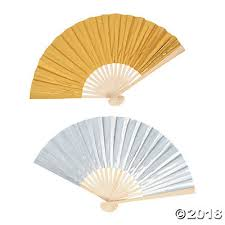 folding fans metallic folding fans