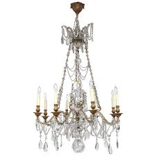 Crystal And Bronze Chandelier 19th Century French Doré Bronze And Crystal Chandelier For Sale At