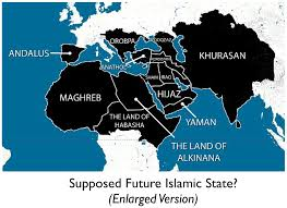united states of islam map 2016 the islamic state s aspirational map geocurrents