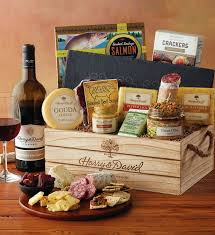wine and cheese gift baskets artisan meat cheese and wine gift harry david