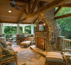 outdoor stone fireplace outdoor room with stone fireplace pictures photos and images for