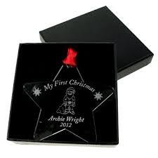 Personalised Metal Christmas Tree Decorations by My 1st Christmas Bauble Baby Personalised Christmas Tree