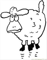 surprised sheep coloring coloring free sheep coloring