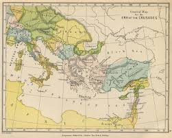 Byzantine Empire Map General Map To Illustrate The Crusades 1905 Map Maps