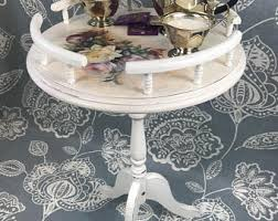 Shabby Chic Side Table Shabby Chic Coffee Table Etsy