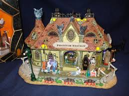 lemax halloween houses lemax spooky town phantom station halloween village complete in