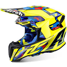 ebay motocross helmets airoh new mx 2017 twist le cairoli tc16 yellow camo motocross dirt