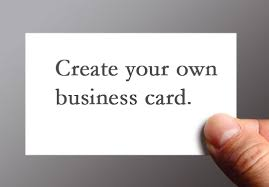 How To Design Your Business Card How To Create Your Own Business Cards 3661