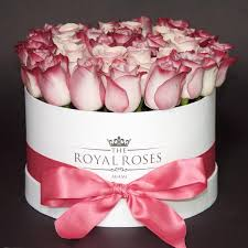 boxed roses fresh cut roses square box standard color flowers the royal