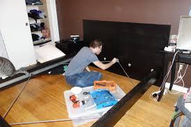 My Ikea Malm Bedroom Diy Headboard Instructions Malm Ikea Frame J U0027s Digs