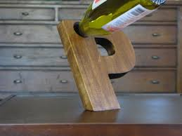 unique wine gifts the wine recline balancing wine bottle holder wood letters and