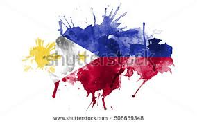 watercolor flag philippines stock illustration 506659348