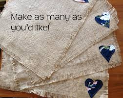 how to make burlap placemats