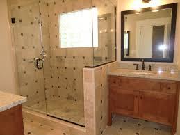 master bath features his n hers vanities u0026 travertine tile shower