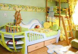colorful kids bedroom and playroom design