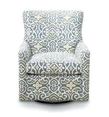 Grey And Yellow Chair Gray And Yellow Quatrefoil Patterned Upholstered Swivel Glider