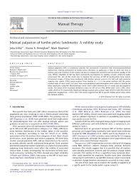 manual palpation of lumbo pelvic landmarks a validity study pdf
