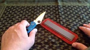 sharpening kitchen knives with a stone spyderco double stuff edc knife sharpener how to sharpen a