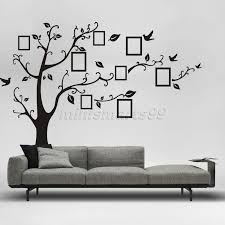online buy wholesale wall deco stickers from china wall deco black 3d diy photo tree vinyl wall stickers kids baby children decor home wall paper decal