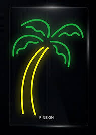 palm tree neon light prang us palm tree neon sculpture 10 8 inch real neon signs made