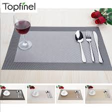 table runner placemat set top finel 2016 set of 4 pvc cross weave placemats for dining table