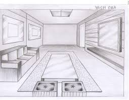 7 perspective living room drawing 78 best images about one point