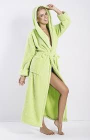 robe de chambre eponge femme peignoir éponge capuche vert diana dk dian v idresstocode
