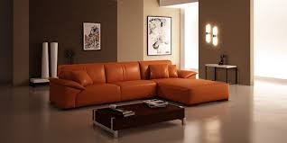 orange sectional sofa glamorous orange leather sofa home design