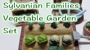 Sylvanian Families Garden Set Sylvanian Families Vegetable Garden Set Youtube