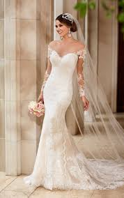 wedding dress with wedding dresses with illusion lace sleeves stella york