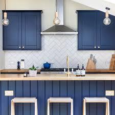 light blue kitchen cabinets uk bespoke blue shaker kitchen in wandsworth