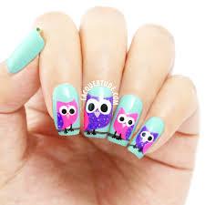 owl nails cute owl nail designs lacquertude pp owl nail art nails