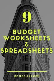 Spreadsheet Template For Budget by 9 Useful Budget Worksheets That Are 100 Free