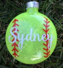 personalized softball ornament this 3 glass ornament