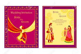 Marriage Wedding Invitation Cards Vector Illustration Of Indian Wedding Invitation Card Royalty Free