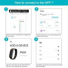 sleep app bracelet images Forca f600 pink watchband smart bracelet sleep fitness heart rate jpg
