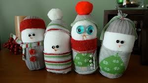 sock snowmen a craft even guys will try write click scrapbook