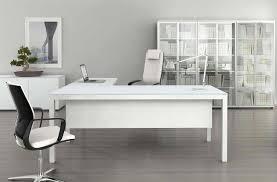 bureau en verre blanc impuls bureau en verre blanc 180 cm avec retour monbureaudesign fr