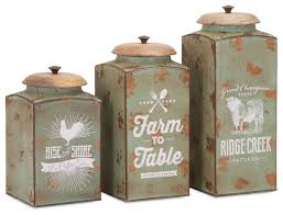 kitchen canisters and jars 3 farmhouse lidded canister set farmhouse kitchen