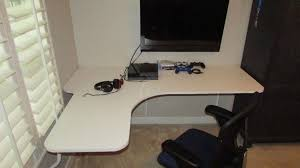 floating wall mounted corner desk diy youtube regarding how to