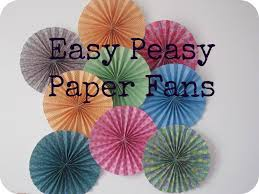 diy paper fans diy paper fans for less than the cost of a mars bar trawlergirl