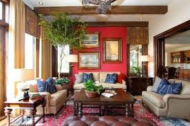 Modern Room Colors Interior Design And Decor In Red Colors - Red and blue living room decor