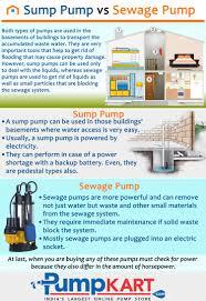 sump pump vs sewage pump visual ly