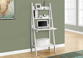 Bookcase Computer Desk Monarch Specialties High Ladder Bookcase With A Drop
