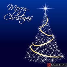 sparkling blue christmas tree christmas web design elements