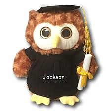 graduation owl personalized graduation owl with cap gown and diploma