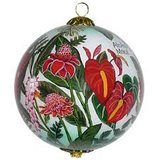 floral cornucopia hawaiian christmas ornament maui by design