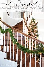how to make cheap garland look expensive decorations