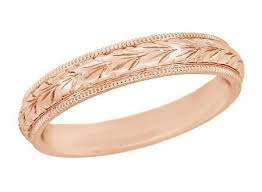 gold wedding rings antique gold wedding rings vintage pink gold wedding bands