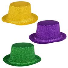 bulk mardi gras bulk glittery plastic mini mardi gras party hats 5 ct packs at